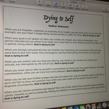 Dying to Self1