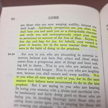 Luke 6:22-23 and 26 Wuest