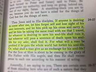 Matt 16:24-26 Wuest